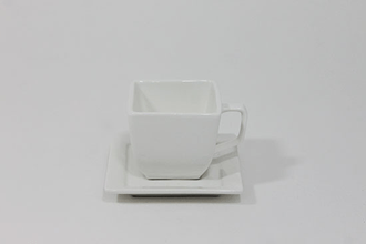 Coffee Cup & Saucer Square
