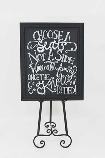 Black and White Chalkboard