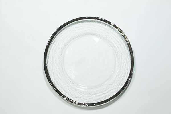 Glass with Silver Charger Plate