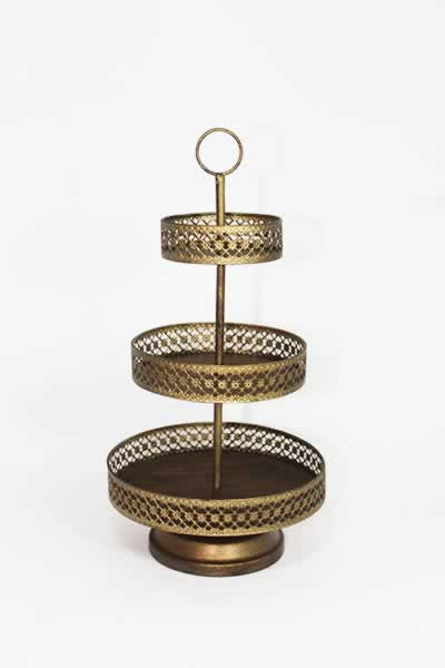 Serving Accessories Gold 3 Tier Tower