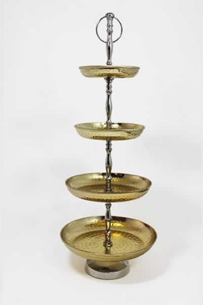 Serving Accessories Gold 4 Tier Tower