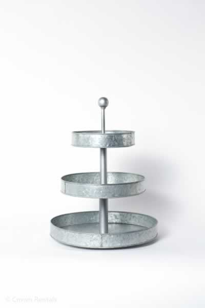 Galvanized 3 Tier Tower