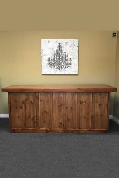 Specialty Wood Farm Table Bar