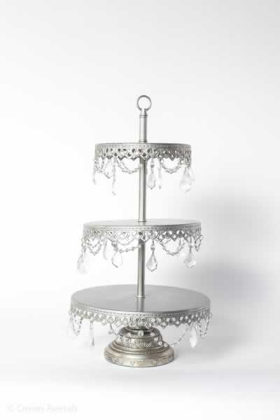 Small Silver 3 Tier Tower