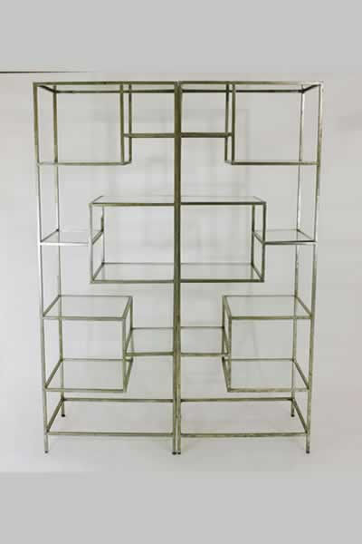 Specialty Gold Shelving Units